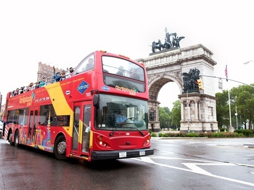 Hop-On Hop-Off Uptown + Downtown New York 1 day: 2 routes + 1 attraction Preview Image