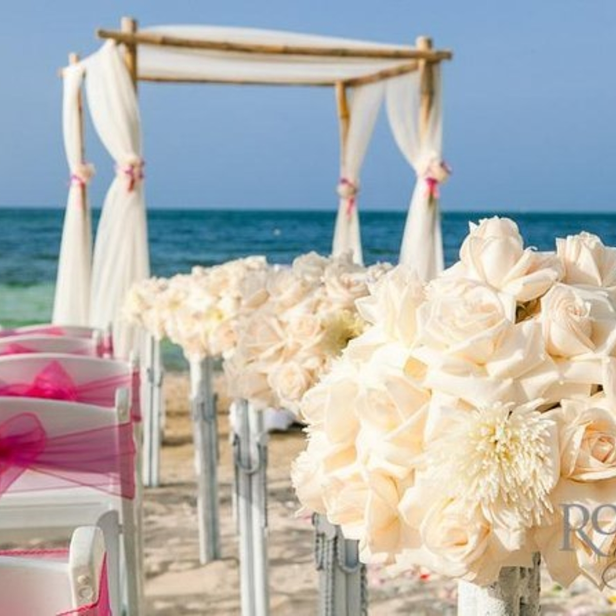 Intimate Carribean Beach Ceremony Images