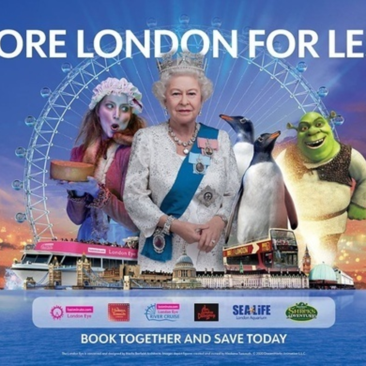 Merlin's Magical London: 3 attractions in 1 – The lastminute.com London Eye + Madame Tussauds + The London Dungeon Images