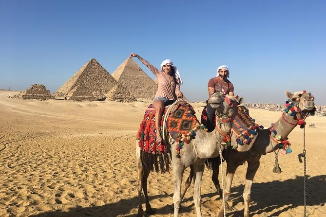 Private Half-Day Trip to Giza Pyramids, Sphinx, Valley Temple with Camel Ride Preview Image