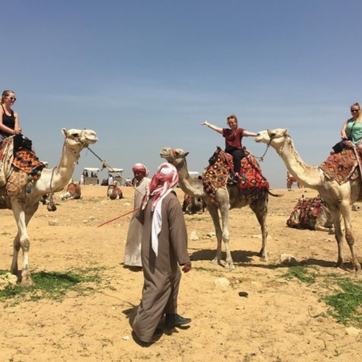 Private Half-Day Trip to Giza Pyramids, Sphinx, Workers Tombs with Camel Ride Images
