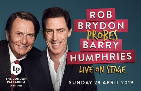 Rob Brydon probes Barry Humphries Preview Image